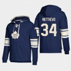 Cheap Toronto Maple Leafs #34 Auston Matthews Blue adidas Lace-Up Pullover Hoodie