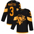 Cheap Adidas Penguins #3 Olli Maatta Black Authentic 2019 Stadium Series Women's Stitched NHL Jersey