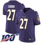 Cheap Nike Ravens #27 J.K. Dobbins Purple Team Color Youth Stitched NFL 100th Season Vapor Untouchable Limited Jersey