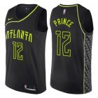 Cheap Men's Atlanta Hawks #12 Authentic Taurean Prince Black Basketball City Edition Jersey