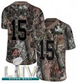 Cheap Nike Chiefs #15 Patrick Mahomes Camo Super Bowl LIV 2020 Men's Stitched NFL Limited Rush Realtree Jersey