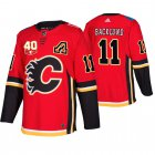 Cheap Adidas Calgary Flames #11 Mikael Backlund 40th Anniversary Third 2019-20 NHL Jersey