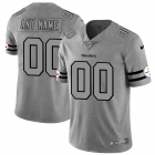 Cheap Pittsburgh Steelers Custom Men's Nike Gray Gridiron II Vapor Untouchable Limited NFL Jersey