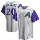 Cheap Arizona Diamondbacks #20 Luis Gonzalez Nike Alternate Cooperstown Collection Player MLB Jersey Cream Purple