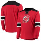 Cheap New Jersey Devils adidas Platinum Long Sleeve Jersey T-Shirt Red