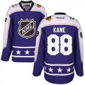 Cheap Blackhawks #88 Patrick Kane Purple 2017 All-Star Central Division Women's Stitched NHL Jersey