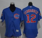 Cheap Cubs #12 Kyle Schwarber Blue Flexbase Authentic Women's Stitched MLB Jersey
