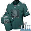 Cheap Nike Eagles #20 Brian Dawkins Midnight Green Team Color Super Bowl LII Men's Stitched NFL Elite Drift Fashion Jersey