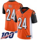 Cheap Nike Bengals #24 Vonn Bell Orange Alternate Youth Stitched NFL 100th Season Vapor Untouchable Limited Jersey