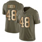 Cheap Nike Ravens #48 Patrick Queen Olive/Gold Youth Stitched NFL Limited 2017 Salute To Service Jersey