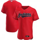 Cheap Cleveland Indians Men's Nike Red Alternate 2020 Authentic Official Team MLB Jersey