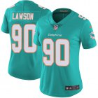 Cheap Nike Dolphins #90 Shaq Lawson Aqua Green Team Color Women's Stitched NFL Vapor Untouchable Limited Jersey