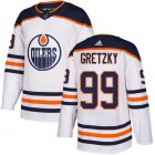 Cheap Adidas Oilers #99 Wayne Gretzky White Road Authentic Stitched Youth NHL Jersey