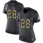 Cheap Nike Colts #28 Jonathan Taylor Black Women's Stitched NFL Limited 2016 Salute to Service Jersey