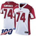 Cheap Nike Cardinals #74 D.J. Humphries White Men's Stitched NFL 100th Season Vapor Limited Jersey