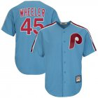 Cheap Phillies #45 Zack Wheeler Light Blue New Cool Base Cooperstown Stitched MLB Jersey