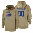 Cheap Buffalo Bills Custom Nike Tan 2019 Salute To Service Name & Number Sideline Therma Pullover Hoodie