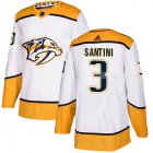 Cheap Adidas Predators #3 Steven Santini White Road Authentic Stitched Youth NHL Jersey