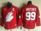 Cheap Team Canada #99 Wayne Gretzky Red CCM Throwback 1991 Stitched Youth NHL Jersey