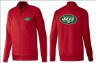 Cheap NFL New York Jets Team Logo Jacket Red