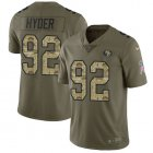 Cheap Nike 49ers #92 Kerry Hyder Olive/Camo Youth Stitched NFL Limited 2017 Salute To Service Jersey