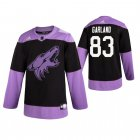 Cheap Adidas Coyotes #83 Conor Garland Men's Black Hockey Fights Cancer Practice NHL Jersey