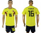 Cheap Colombia #16 M.Borja Home Soccer Country Jersey