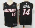 Cheap Men's Miami Heat #14 Tyler Herro Black 2019 Nike Swingman Stitched NBA Jersey With The Sponsor Logo