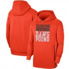 Cheap Cleveland Browns Nike Sideline Local Performance Pullover Hoodie Orange