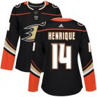 Cheap Adidas Ducks #14 Adam Henrique Black Home Authentic Women's Stitched NHL Jersey