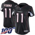 Cheap Nike Cardinals #11 Larry Fitzgerald Black Alternate Women's Stitched NFL 100th Season Vapor Limited Jersey