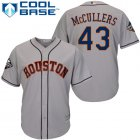 Cheap Astros #43 Lance McCullers Grey Cool Base 2019 World Series Bound Stitched Youth MLB Jersey