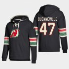 Cheap New Jersey Devils #47 John Quenneville Black adidas Lace-Up Pullover Hoodie