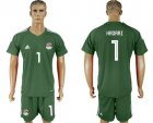 Cheap Egypt #1 Hadari Army Green Goalkeeper Soccer Country Jersey