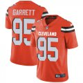 Cheap Nike Browns #95 Myles Garrett Orange Alternate Men's Stitched NFL Vapor Untouchable Limited Jersey