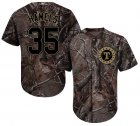 Cheap Rangers #35 Cole Hamels Camo Realtree Collection Cool Base Stitched Youth MLB Jersey