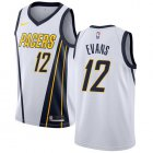 Cheap Nike Pacers #12 Tyreke Evans White NBA Swingman Earned Edition Jersey