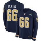 Cheap Nike Rams #66 Austin Blythe Navy Blue Team Color Youth Stitched NFL Limited Therma Long Sleeve Jersey