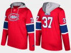 Cheap Canadiens #37 Antti Niemi Red Name And Number Hoodie