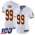 Cheap Nike Redskins #99 Chase Young White Women's Stitched NFL 100th Season Vapor Untouchable Limited Jersey