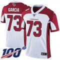 Cheap Nike Cardinals #73 Max Garcia White Men's Stitched NFL 100th Season Vapor Limited Jersey