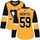 Cheap Adidas Penguins #59 Jake Guentzel Gold Alternate Authentic Women's Stitched NHL Jersey
