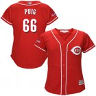 Cheap Reds #66 Yasiel Puig Red Alternate Women's Stitched MLB Jersey
