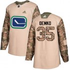 Cheap Adidas Canucks #35 Thatcher Demko Camo Authentic 2017 Veterans Day Stitched NHL Jersey