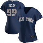 Cheap New York Yankees #99 Aaron Judge Nike Women's Alternate 2020 MLB Player Jersey Navy