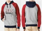 Cheap Cincinnati Reds Pullover Hoodie Grey & Red