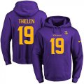 Cheap Nike Vikings #19 Adam Thielen Purple(Gold No.) Name & Number Pullover NFL Hoodie