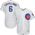Cheap Cubs #6 Nicholas Castellanos White Flexbase Authentic Collection Stitched MLB Jersey