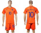 Cheap Holland #10 Wijnaldum Home Soccer Country Jersey