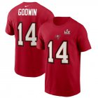 Cheap Men's Tampa Bay Buccaneers Chris Godwin Nike Red Super Bowl LV Champions Name & Number T-Shirt
